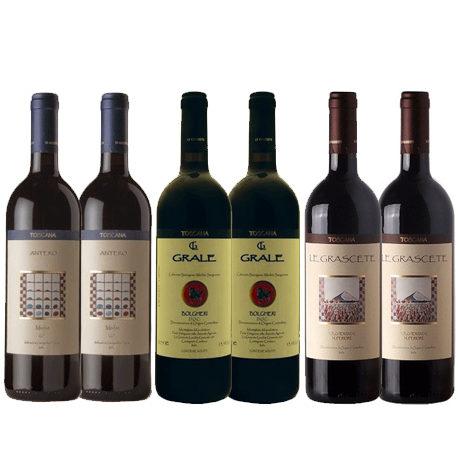 Wein Bolgheri Probierpaket Le Grascete