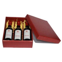 3-Rosso-rote-Geschenkkassette